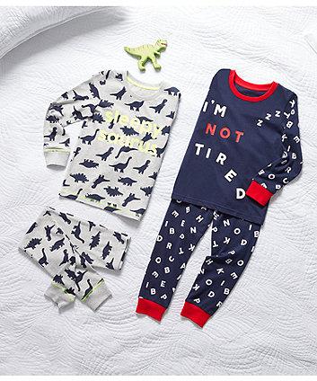 navy not tired pyjamas