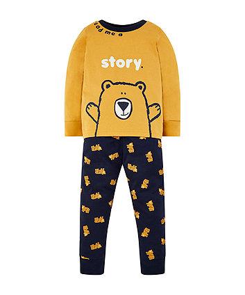 mustard story bear pyjamas