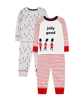 jolly good guardsman pyjamas - 2 pack