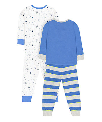 space rocket pyjamas - 2 pack