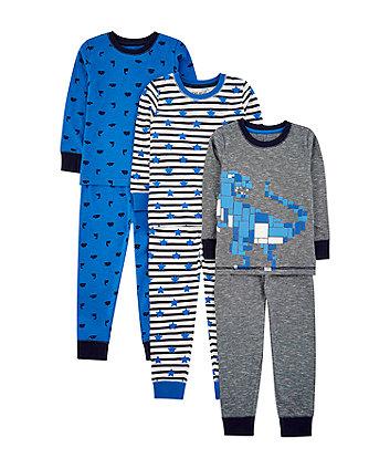 dinosaur pyjamas - 3 pack