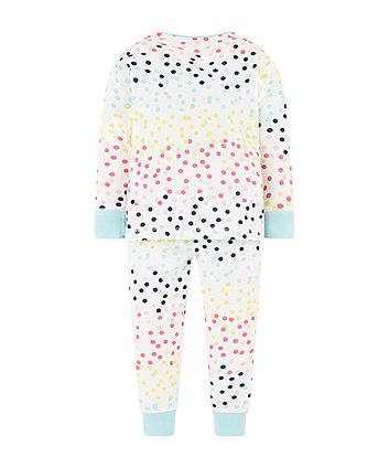 multicolour spot pyjamas