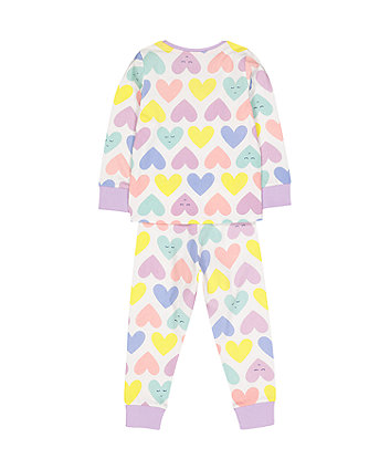 multicolour hearts pyjamas