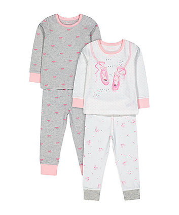 pink and grey ballet pyjamas