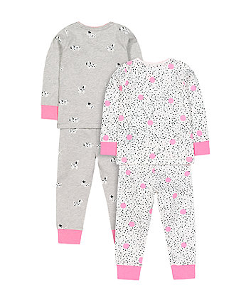 dream big spot pyjamas - 2 pack