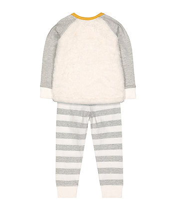 fluffy polar bear pyjamas
