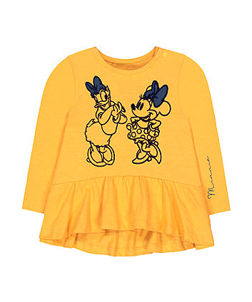 Disney minnie mouse and daisy yellow t-shirt