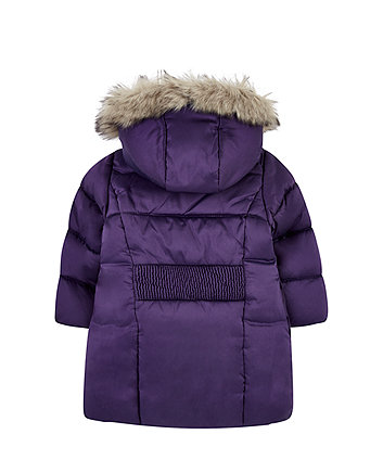 purple padded borg-lined parka