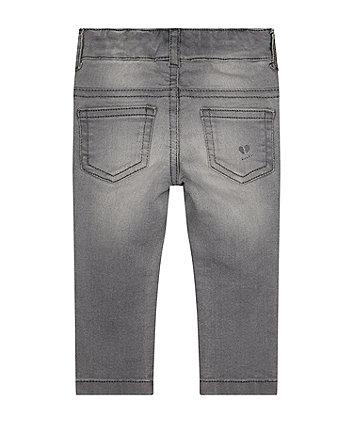 grey printed skinny jeggings