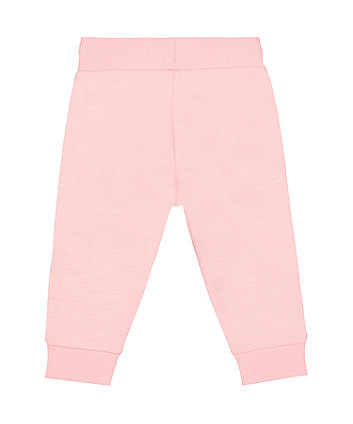 pink side-piping joggers