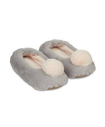 pom pom ballerina slippers