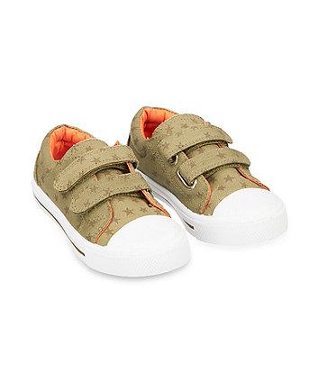 back to nursery khaki canvas shoes