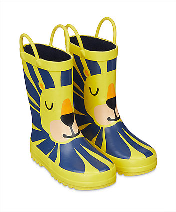 yellow lion wellies