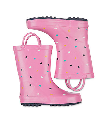 back to nursery heart wellies