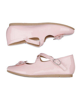 pink patent ballerina shoes