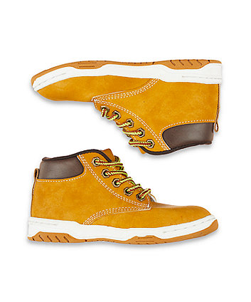tan hi-top boots