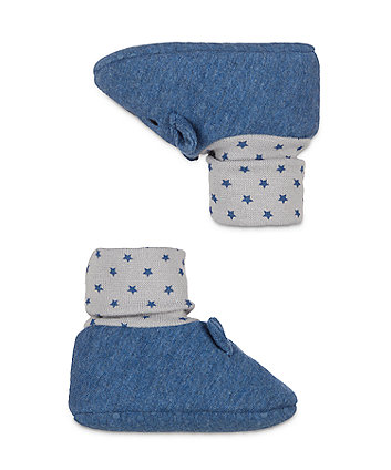 navy bear sock top booties