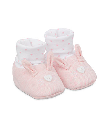pink bunny sock top booties