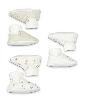 my first elephant sock top baby booties - 3 pack