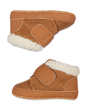 tan cord pram shoes