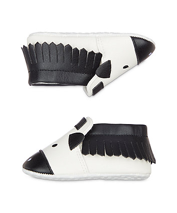 zebra moccasin pram shoes
