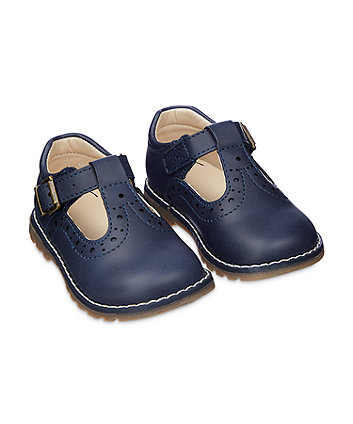first walker navy t-bar shoes