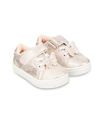 first walker pink butterfly trainers