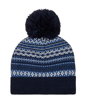 fairisle beanie hat