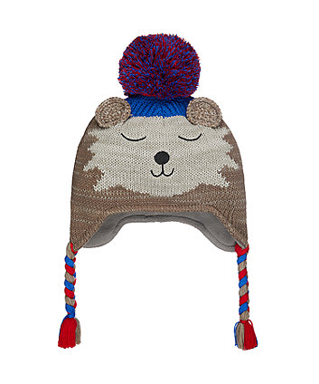 novelty bear trapper hat