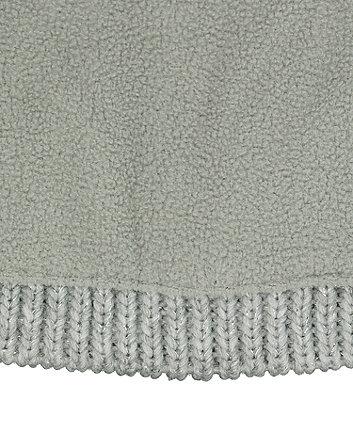 grey glitter badge beanie hat