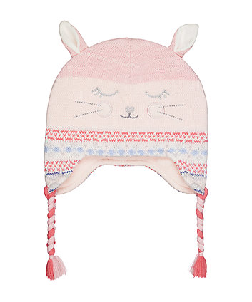 novelty bunny trapper hat