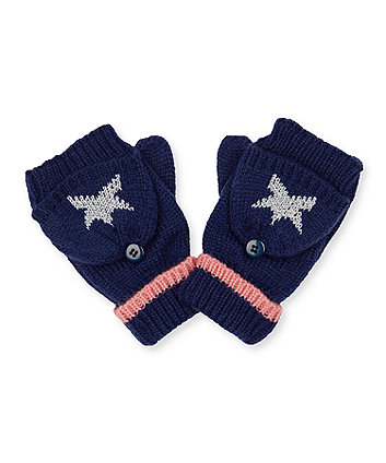 navy silver star converter gloves