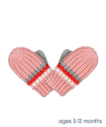 pink stripe converter gloves