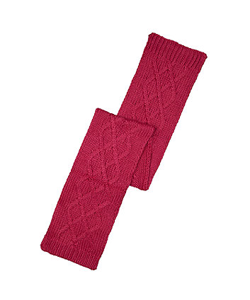 raspberry colourblock scarf