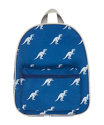 back to nursery blue dino backpack
