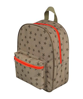 back to nursery khaki star backpack