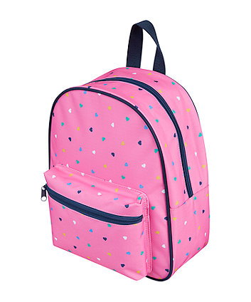 back to nursery pink heart backpack
