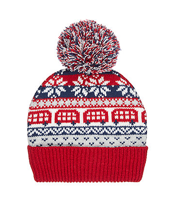 heritage knitted beanie hat