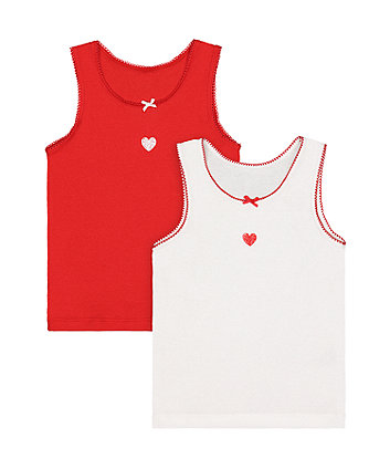 red heart vests - 2 pack