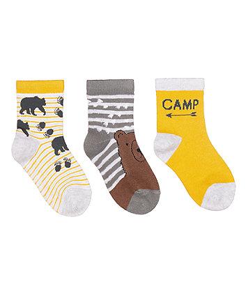 bear socks - 3 pack