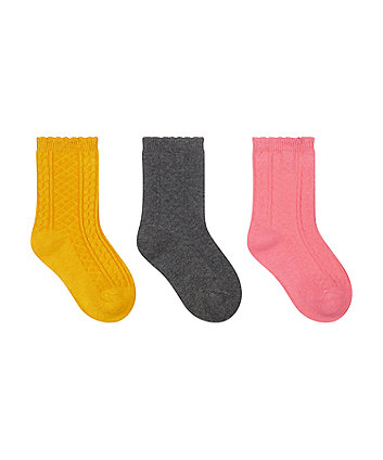 cable socks - 3 pack