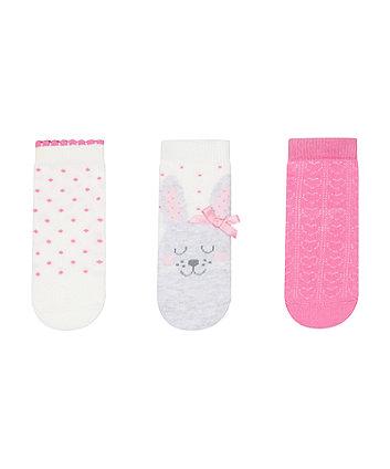 bunny baby socks - 3 pack