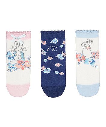 peter rabbit baby socks - 3 pack