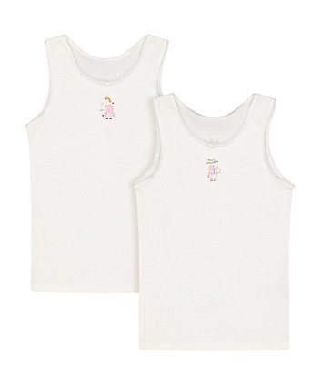 peppa pig vests - 2 pack