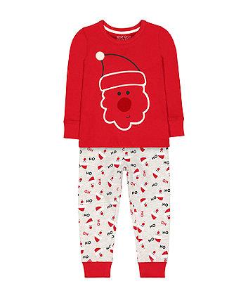 festive santa pyjamas