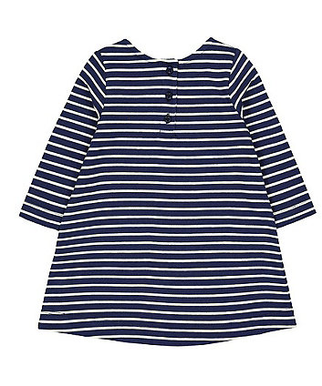 navy stripe sequin heart dress