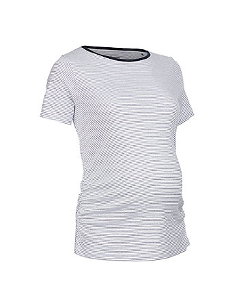 navy pinstripe maternity t-shirt
