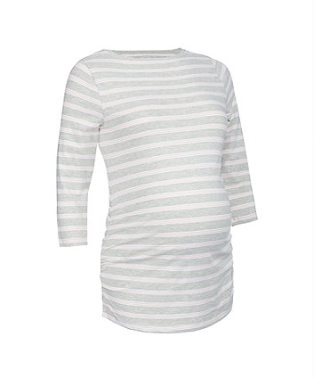 blush striped maternity t-shirt