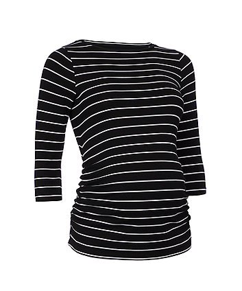 black striped maternity t-shirt