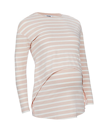 blush striped nursing top